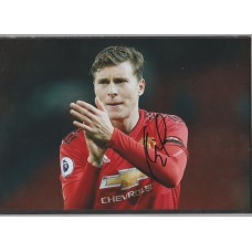 Signed photo of Victor Lindelof the Manchester United footballer