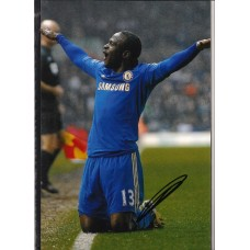 Signed photo of Victor Moses the Chelsea footballer.