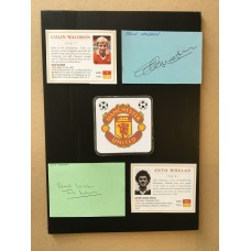 Signed card by COLIN WALDRON the MANCHESTER UNITED footballer.