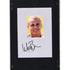 SALE. Signed picture of the Manchester United footballer Wes Brown.