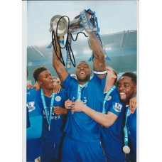 SALE: Signed photo of Wes Morgan the Leicester City Footballer.