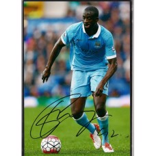 Signed photo of Yaya Toure Manchester City footballer.