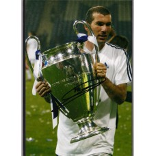 World Cup: SALE: Signed photo of Zinadine Zidane the Real Madrid footballer.